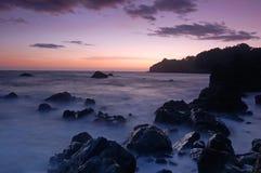 Kalifornien-Sonnenuntergang lizenzfreie stockbilder