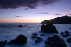 Kalifornien-Sonnenuntergang stockfoto