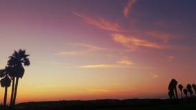 Kalifornien-Sonnenuntergang und -wolken Lizenzfreies Stockfoto