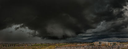 Kalifornien stormmoln Arkivfoton