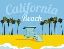 Kalifornien strand Arkivbild