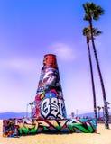Kalifornien-Strand-Graffiti stockfoto