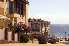 Kalifornien-Strand-Häuser Stockbilder
