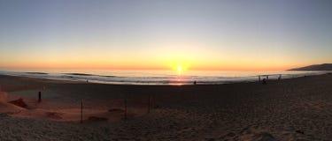 Kalifornien strand Panaorama Fotografering för Bildbyråer
