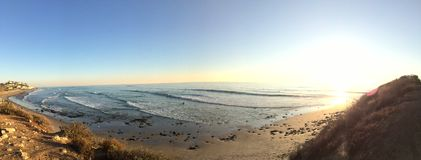 Kalifornien strand Panaorama Arkivbild