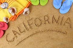 Kalifornien-Strandhintergrund Stockfotos