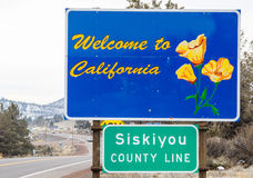 Kalifornien tecken att välkomna Royaltyfri Foto