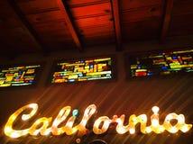 Kalifornien tecken, målat glass Fotografering för Bildbyråer