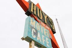 Kalifornien tecknet för motell för Roy ` s royaltyfria bilder