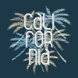 Kalifornien-Typografieplakat Konzept in der Weinleseart stock abbildung