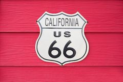 Kalifornien USA Route 66 tecken Arkivfoto