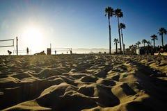 Kalifornien USA strand av Los Angeles volleyboll Venedig fotografering för bildbyråer