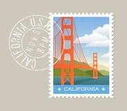 kalifornien Vektorillustration von golden gate bridge Lizenzfreie Stockfotografie
