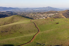 Kalifornien-Vorstadtspuren Stockfotos