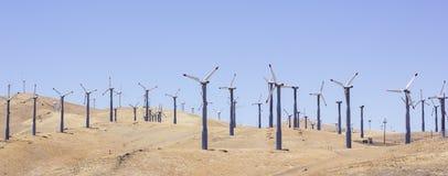 Kalifornien Windmills Royaltyfri Fotografi