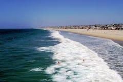 Kalifornii dzień na plaży Fotografia Stock