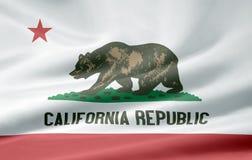 kalifornijskie flagę Zdjęcie Royalty Free