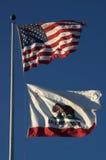 kalifornijskie flagę Zdjęcia Royalty Free
