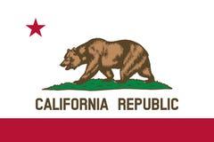 kalifornijskie flagę Zdjęcia Stock
