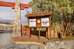 kalifornijskie parku narodowego dolina śmierci Zdjęcia Royalty Free