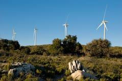 Kalifornisches Windfarm Stockfotografie