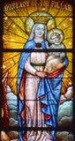 Kaliforniskt beskickningmålat glassfönster royaltyfri bild