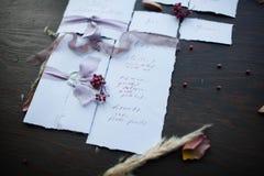Kaligrafia i druk ręczna praca Zdjęcia Royalty Free