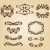 Kaligrafia ornamentu ramy set Zdjęcia Royalty Free