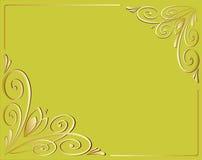 Kaligraficheskih décoratif de cadres de vecteur Photographie stock