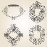 kaligraficzna dekoraci elementów strona ilustracja wektor