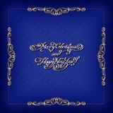 Kaligraficzna rocznik rama Obrazy Royalty Free