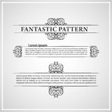 kaligraficzni elementy ornamentują teksta rocznika Obrazy Stock