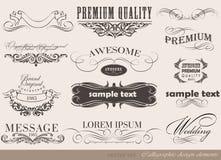 Kaligraficzni projektów elementy Zdjęcie Stock