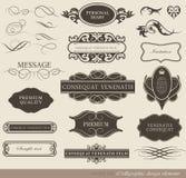 Kaligraficzni projektów elementy Zdjęcie Royalty Free