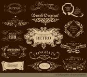 Kaligraficzni projektów elementy Fotografia Royalty Free