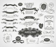 Kaligraficzni projektów elementy Zdjęcia Royalty Free