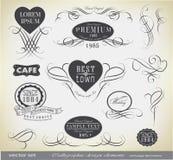 Kaligraficzni projektów elementy, dekoracja i Fotografia Royalty Free