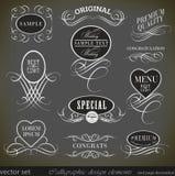 Kaligraficzni projektów elementy i strony decoration/ Zdjęcia Stock