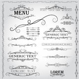 Kaligraficzni projektów elementy i strony dekoracja - wektoru set Zdjęcia Stock