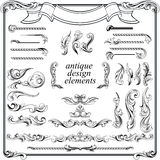 Kaligraficzni projektów elementy, strony dekoracja Zdjęcia Royalty Free