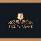 Kaligraficzny Luksusowy logo Emblemata wystroju eleganccy elementy Rocznik Obrazy Royalty Free