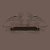 kaligraficzny ornamentu wektoru rocznik Zdjęcie Royalty Free