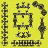 kaligraficzny projektów elementów wektora obrazu ilustracja wektor