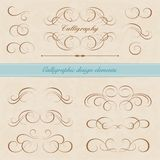 kaligraficzny projektów elementów wektora obrazu Zdjęcia Royalty Free