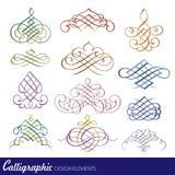 kaligraficzny projektów elementów wektora obrazu Zdjęcia Stock