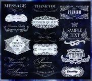 kaligraficzny projektów elementów wektora obrazu Fotografia Stock