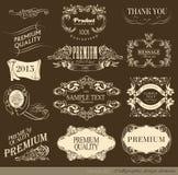 kaligraficzny projektów elementów wektora obrazu Zdjęcie Royalty Free