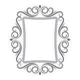Kaligraficzny rocznik ramy set Obraz Royalty Free