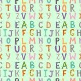 Kaligraficzny wektorowej chrzcielnicy tła liczb bezszwowy deseniowy ampersand i symbole wręczamy patroszonego abecadła literowani ilustracji