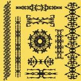 Kaligraficzny wektorowy set royalty ilustracja
